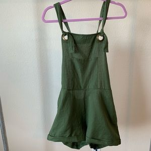 Patrons of Peace olive green shorts overalls.SizeL